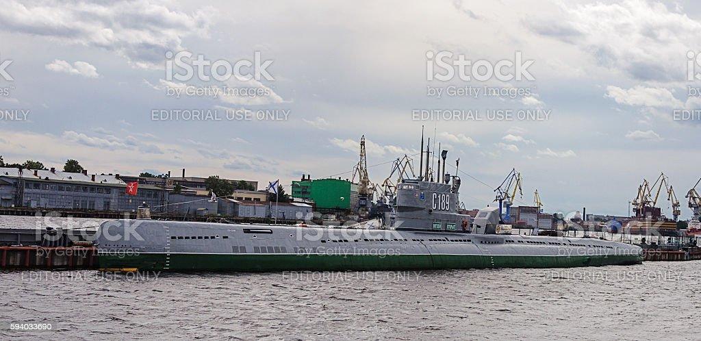 Soviet Submarine Museum in St. Petersburg stock photo