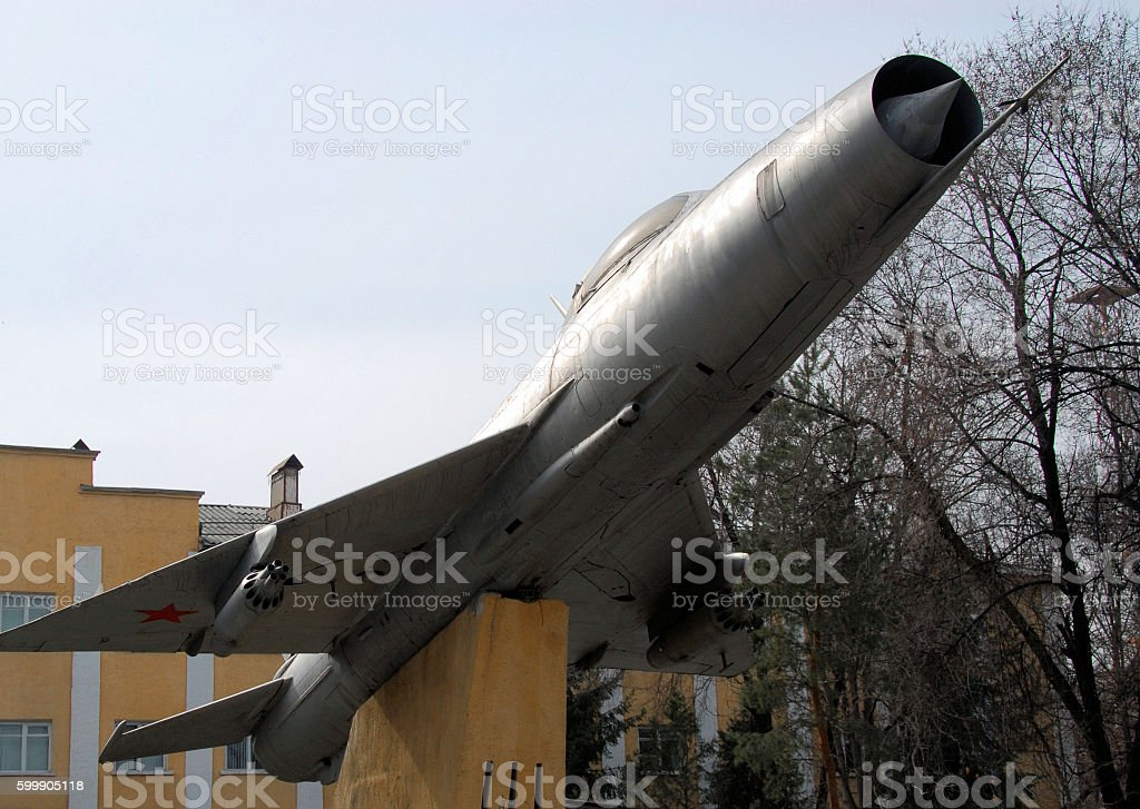 Soviet Sukhoi SU-9 Fishpot fighter, Bishkek, Kyrgyzstan stock photo
