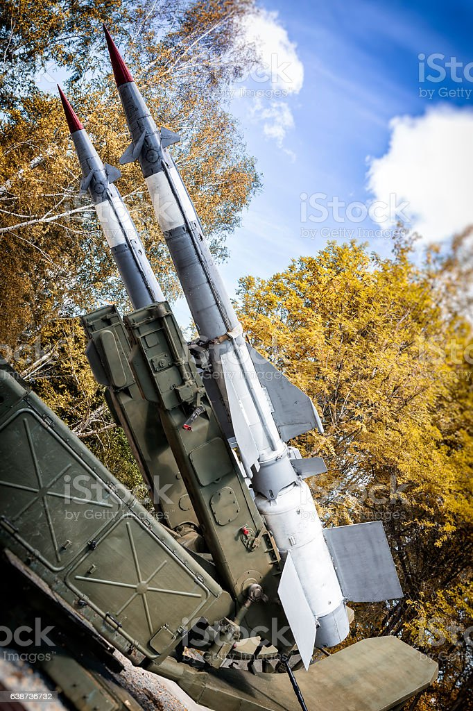 Soviet surface-to-air missiles system Newa stock photo
