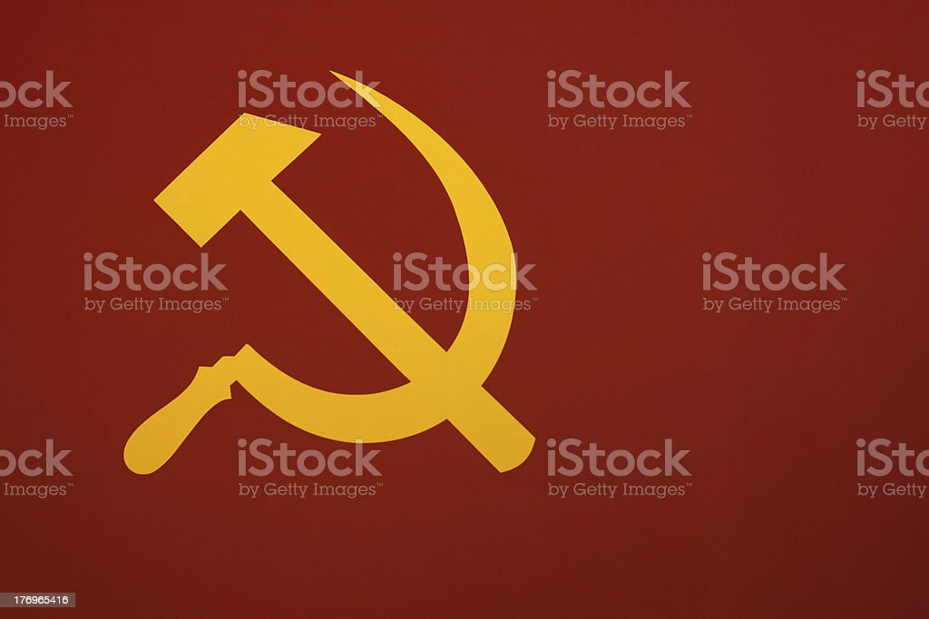 Soviet Symbol Hammer and Sickle stock photo