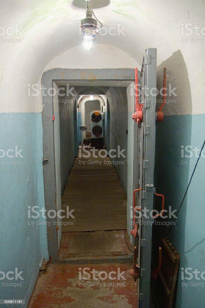 Soviet undergroung bunker stock photo
