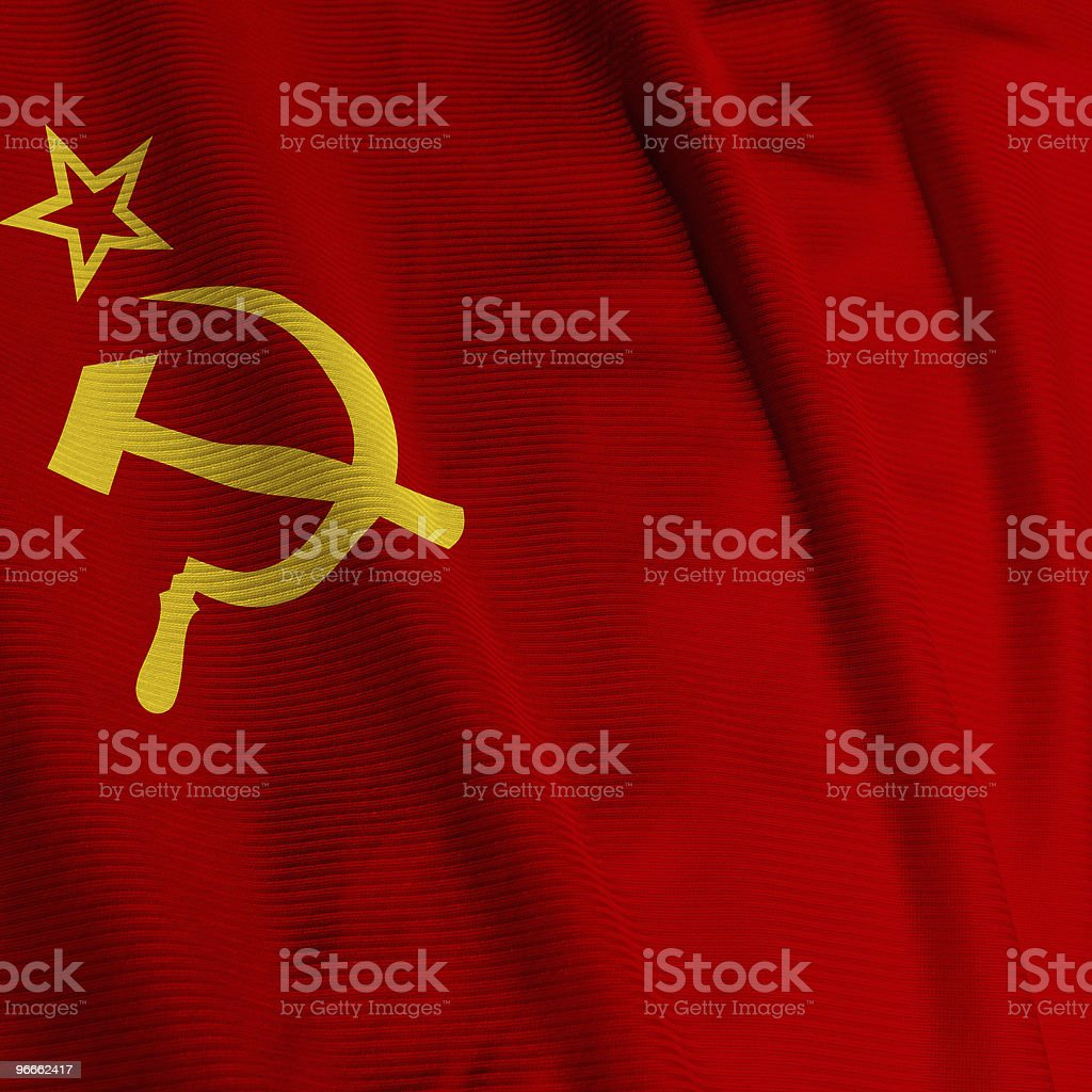Soviet Union Flag Closeup royalty-free stock photo