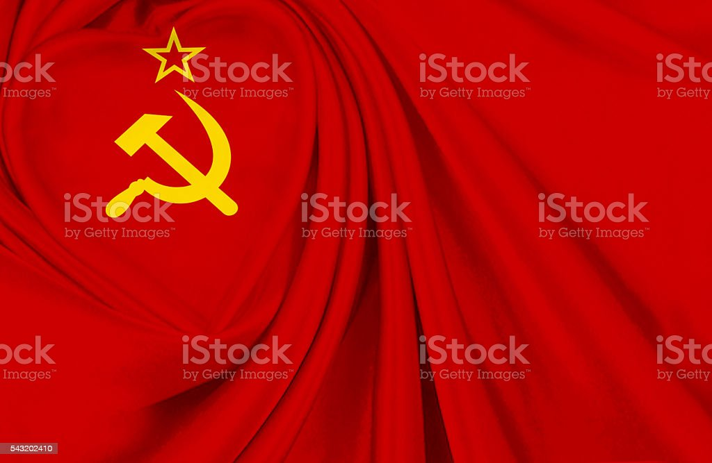 Soviet Union flag stock photo
