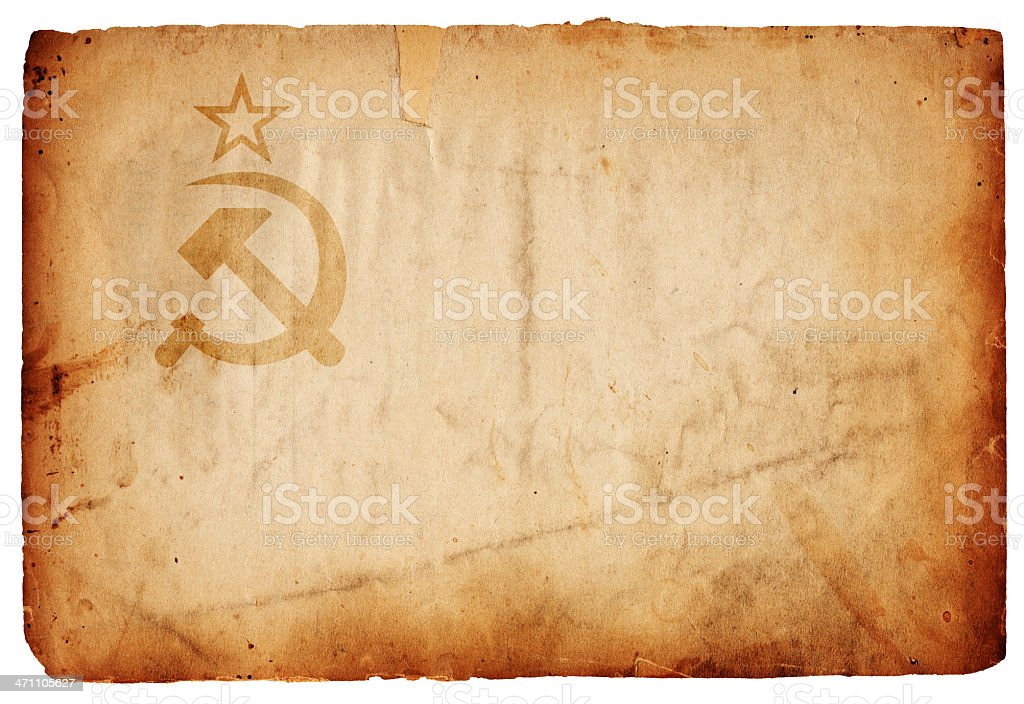 WWII Soviet Union Flag XXXL royalty-free stock photo