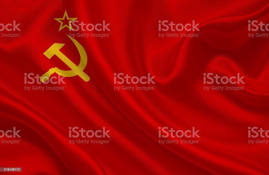 Soviet Union flags stock photo