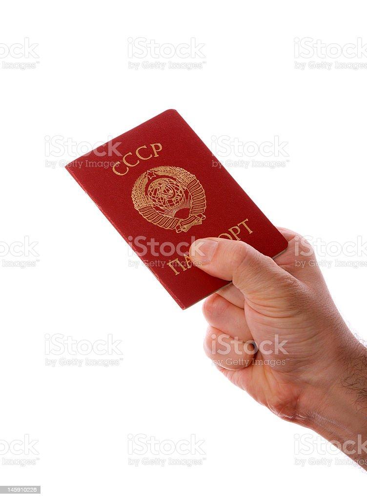 Soviet Union (USSR) passport royalty-free stock photo