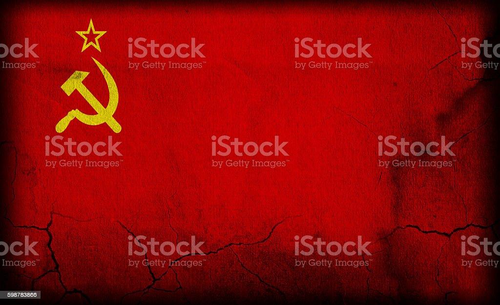 USSR - Soviet Union - vintage concrete flag stock photo