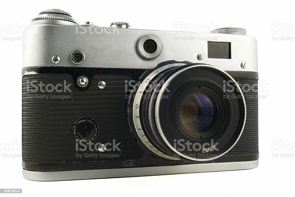 soviet vintage range finder camera stock photo