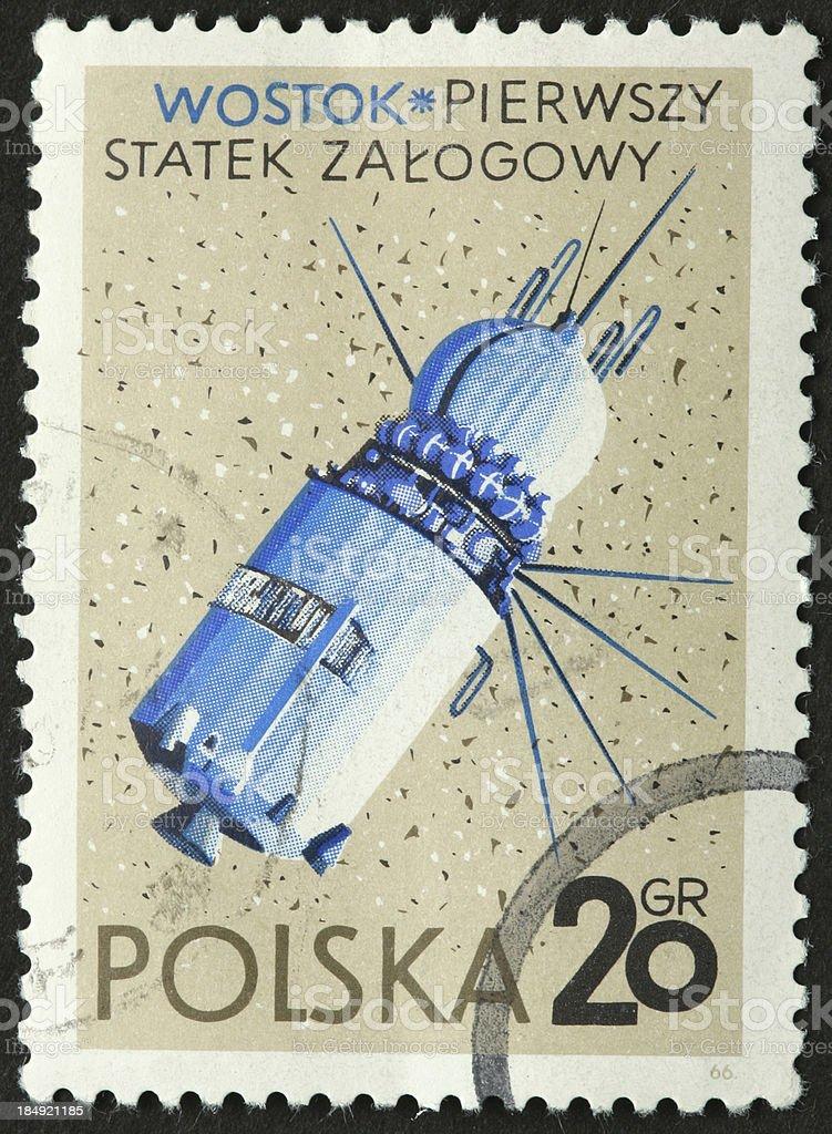 Soviet Vostok spacecraft, first manned mission 1961 stock photo