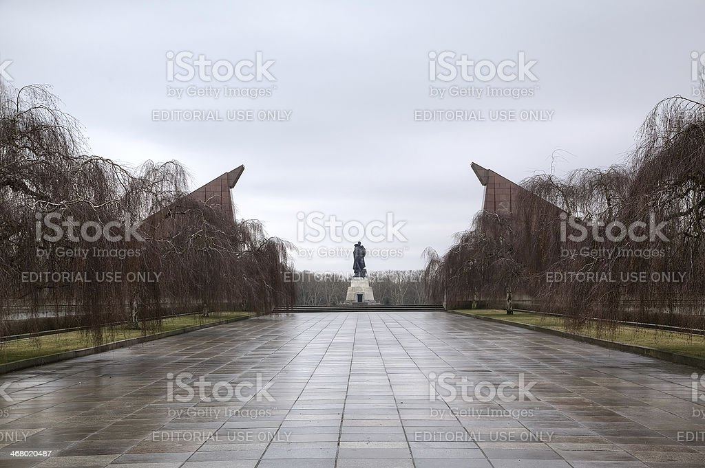 Soviet War Memorial at Treptower Park. Berlin, Germany stock photo