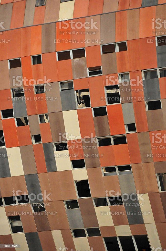 Soweto, Johannesburg, Gauteng, South Africa: Soccer City, facade detail stock photo