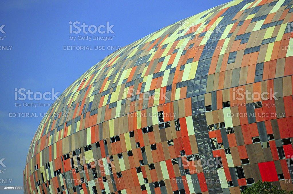 Soweto, Johannesburg: Soccer City stadium stock photo