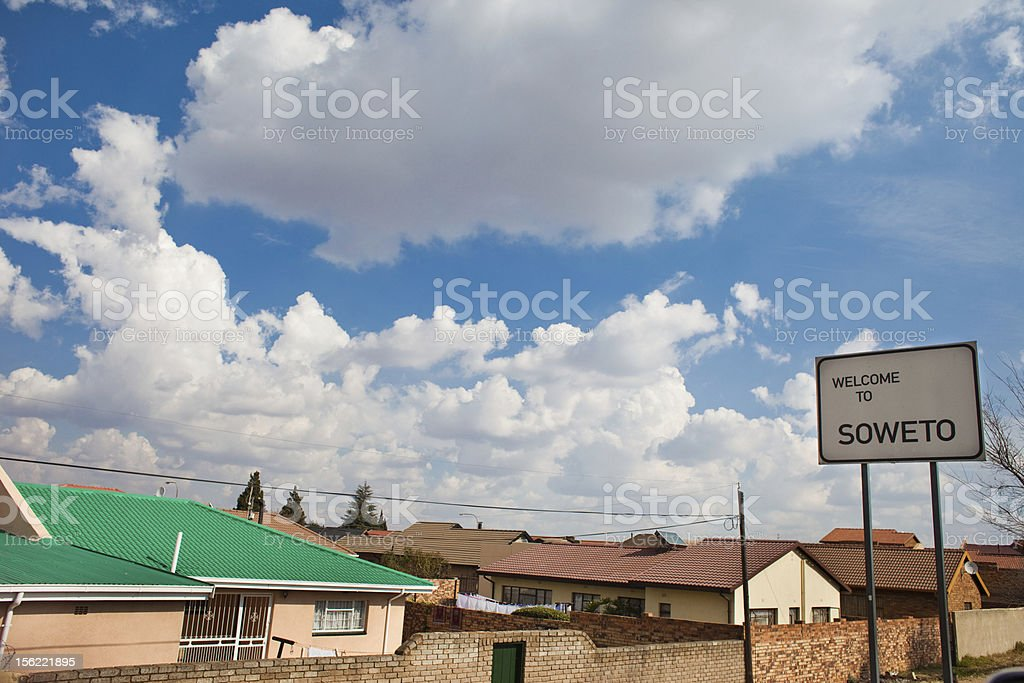 Soweto sign wide royalty-free stock photo