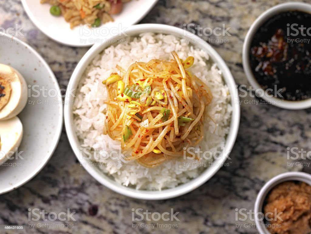 Soy Bean Sprout royalty-free stock photo