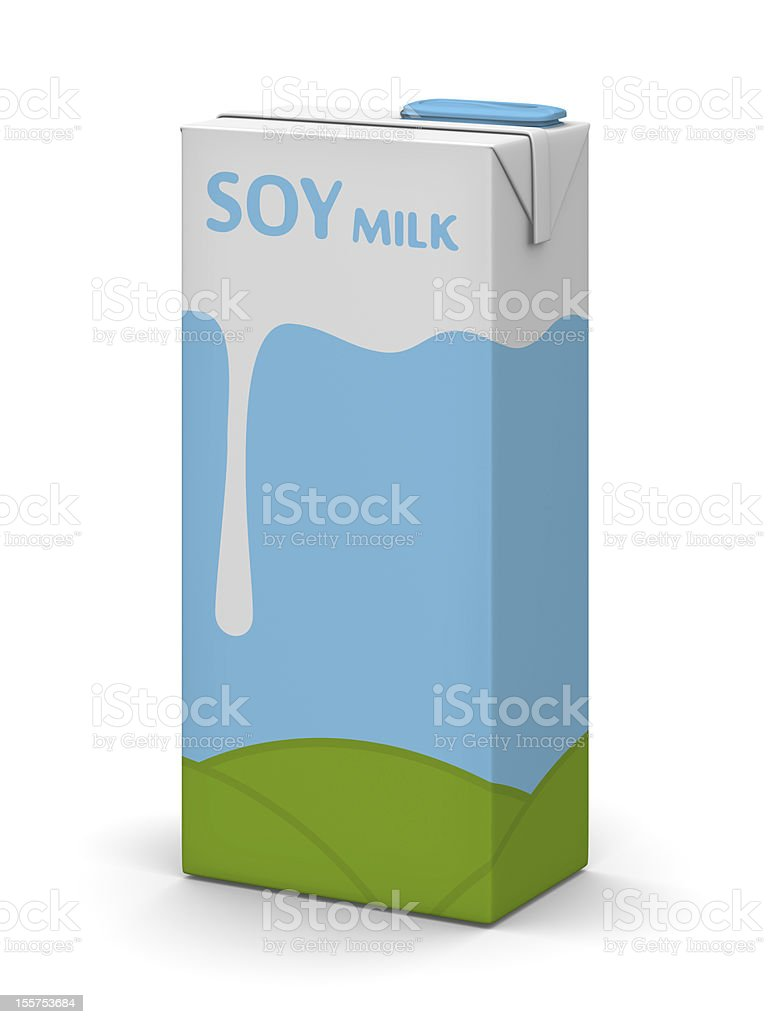 Soy Milk Box stock photo