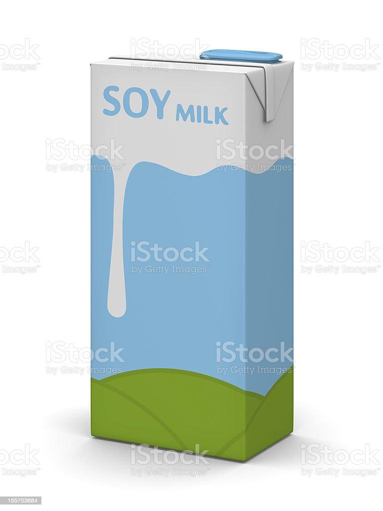 Soy Milk Box stock photo
