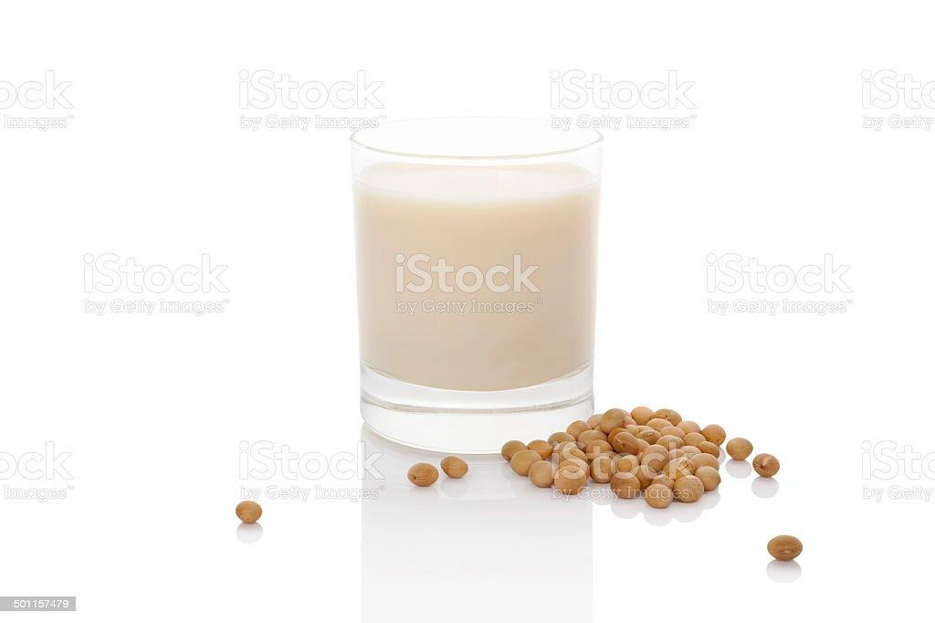 Soy milk. stock photo
