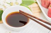 Soy Sauce & Chopsticks