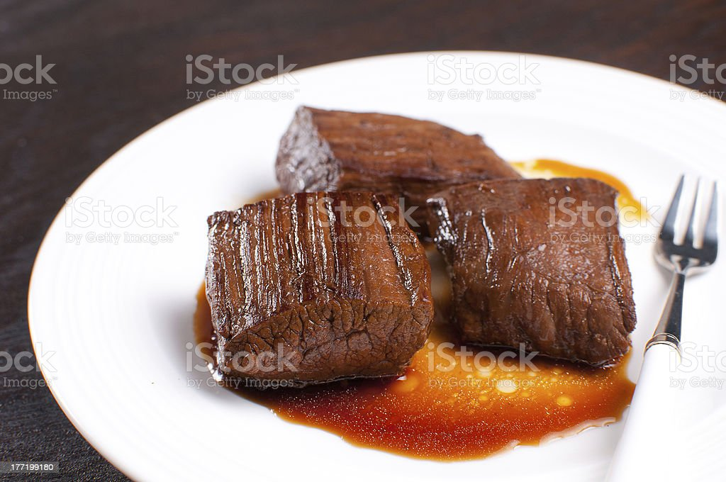 Soy sauce marinated beef royalty-free stock photo