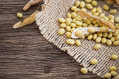 Soya beans in a sack