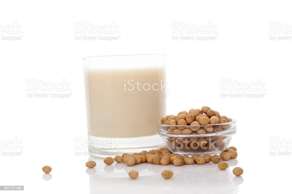 Soya milk. stock photo