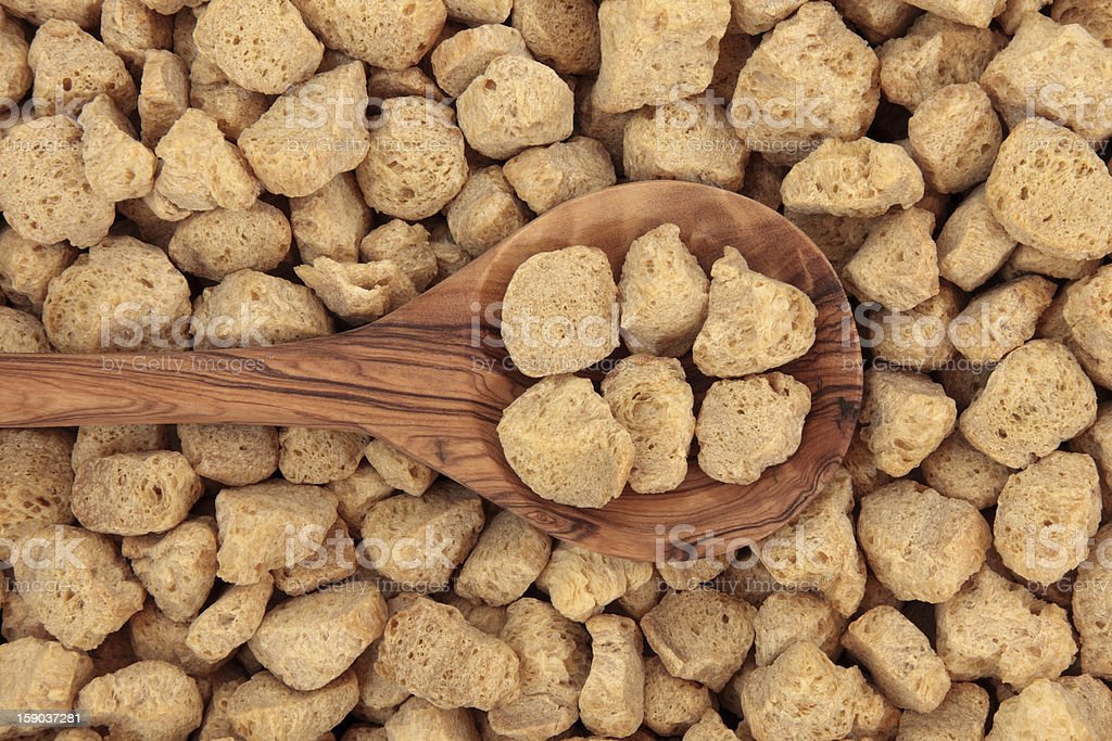Soya Protein Chunks royalty-free stock photo