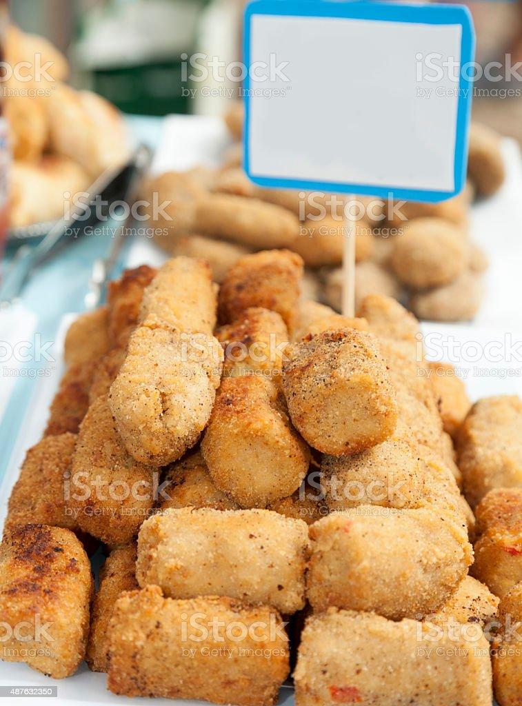 Soybean croquette stock photo