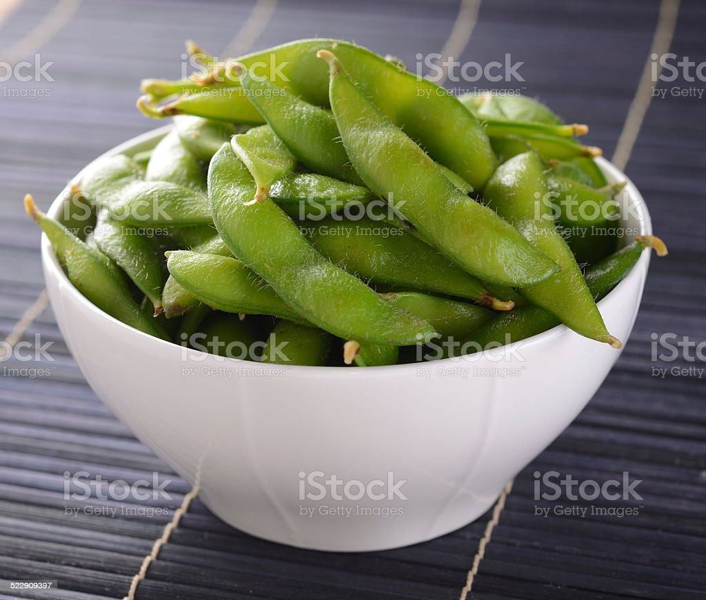 Soybean  in  bowl stock photo