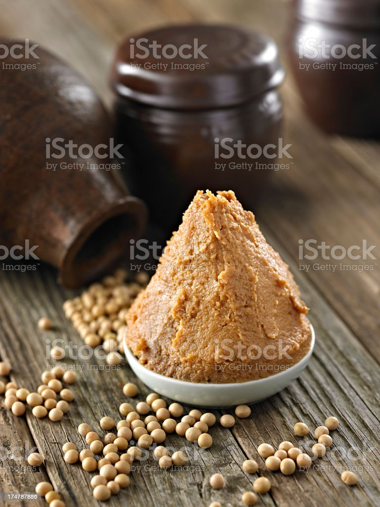 Soybean Paste stock photo
