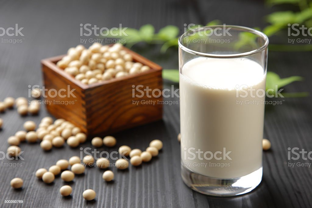 soymilk stock photo