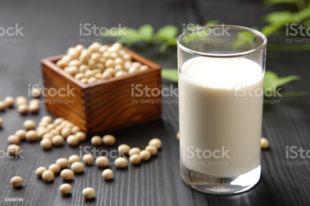 soymilk stock photo
