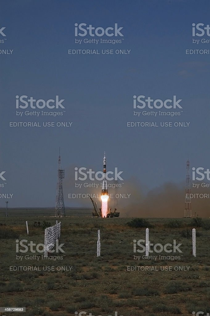 Soyuz TMA-15 Launch on May 27, 2009 stock photo