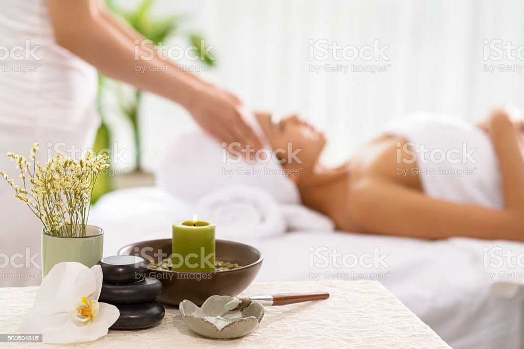 Spa accessories royalty-free stock photo