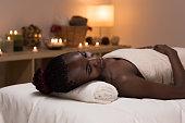 Spa African Woman in Beauty Salon