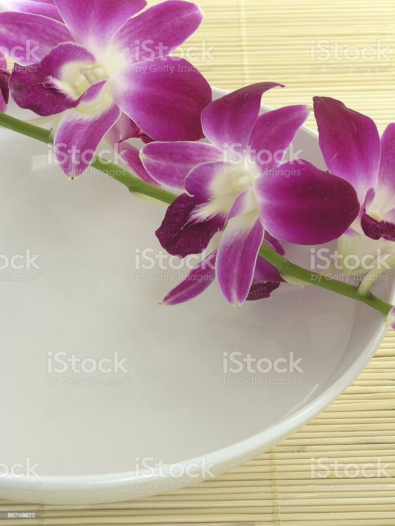 Spa and flower royalty-free stock photo