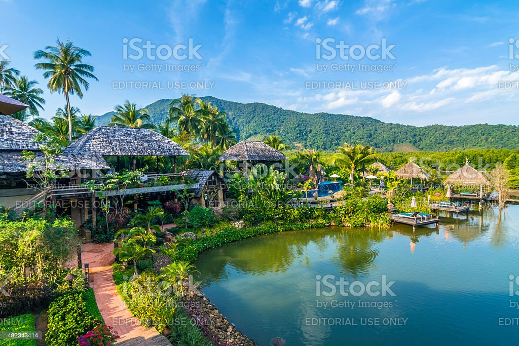 spa and hotel area in Koh Chang stock photo