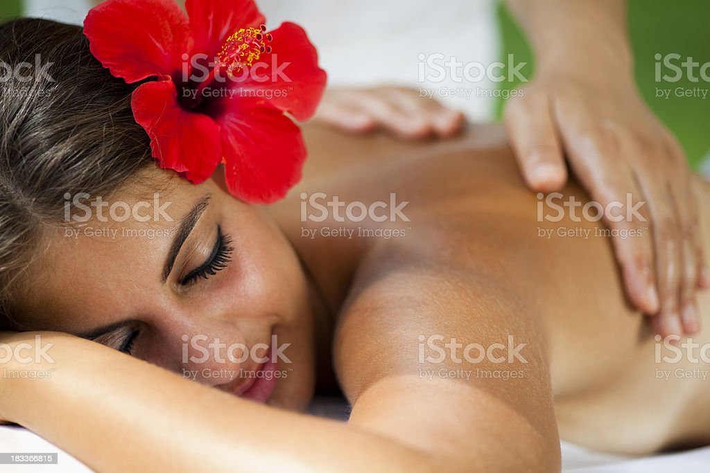 Spa and Wellness - Massage royalty-free stock photo