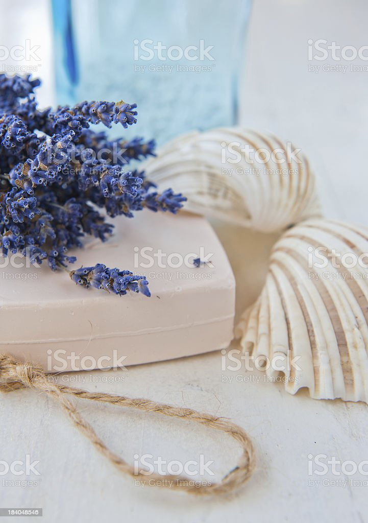 Spa and wellness setting royalty-free stock photo