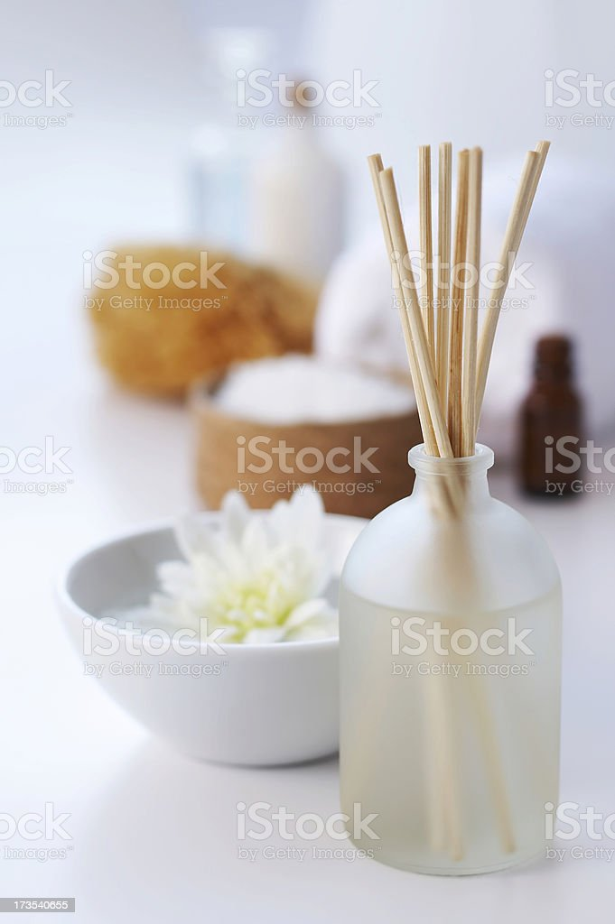spa aromatherapy on white stock photo
