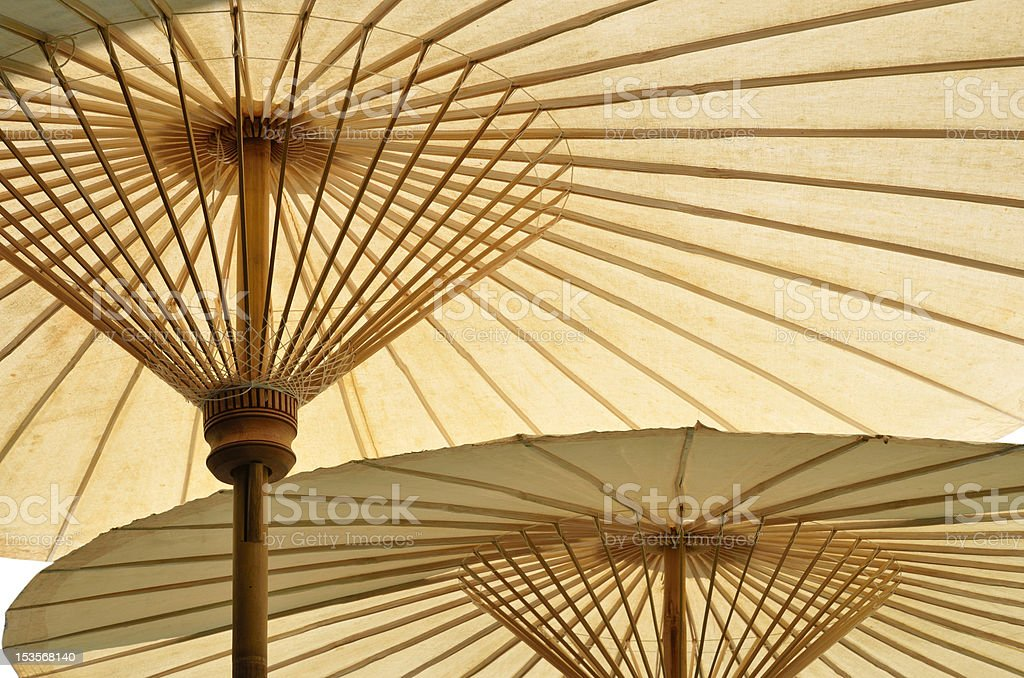 spa bamboo umbrella royalty-free stock photo