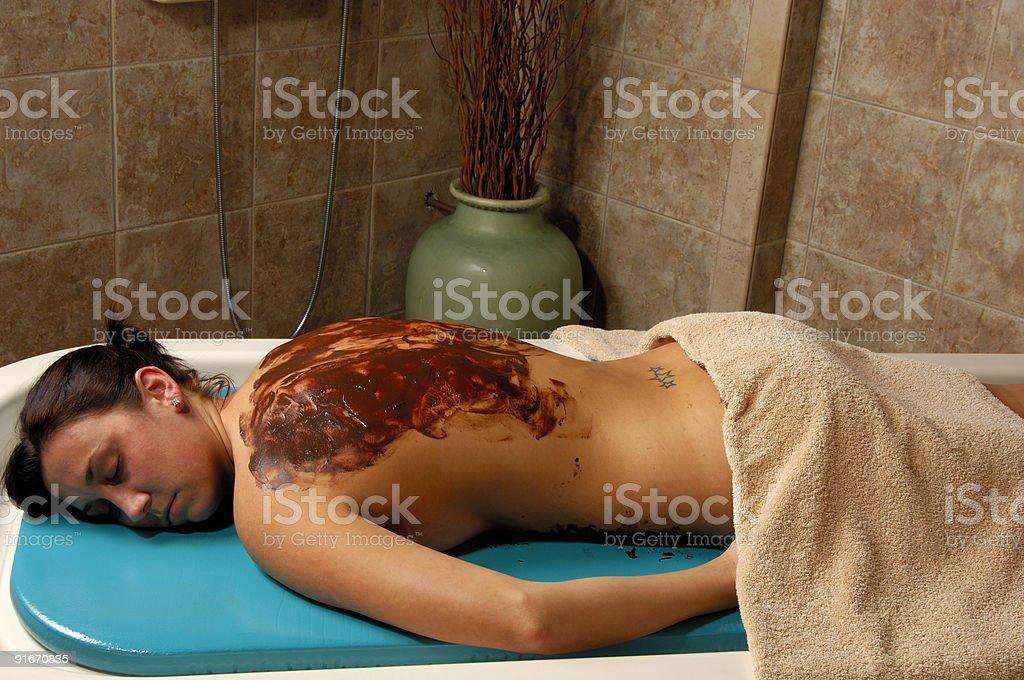 Spa Cocoa Body Masque stock photo