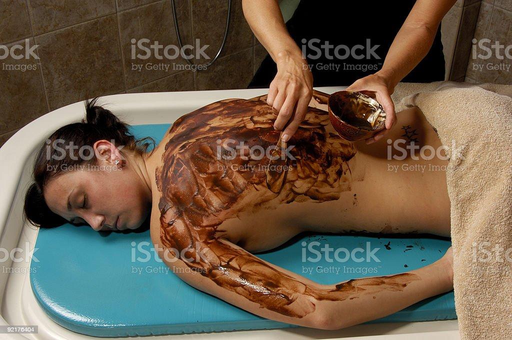 Spa Cocoa Body Scrub Masque royalty-free stock photo
