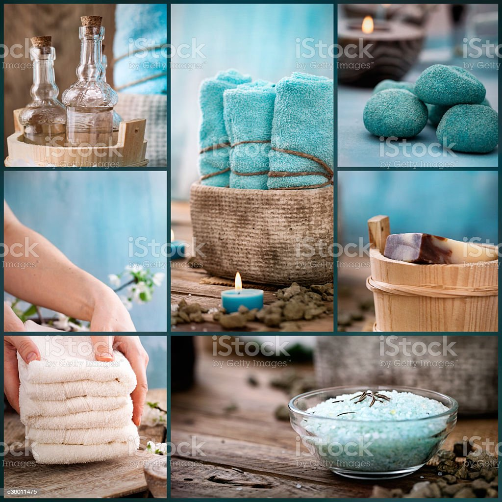 Spa collage stock photo