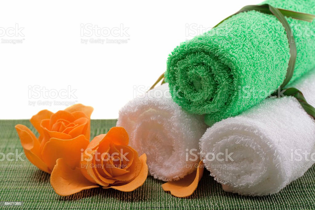 Spa concept of green color royalty-free stock photo