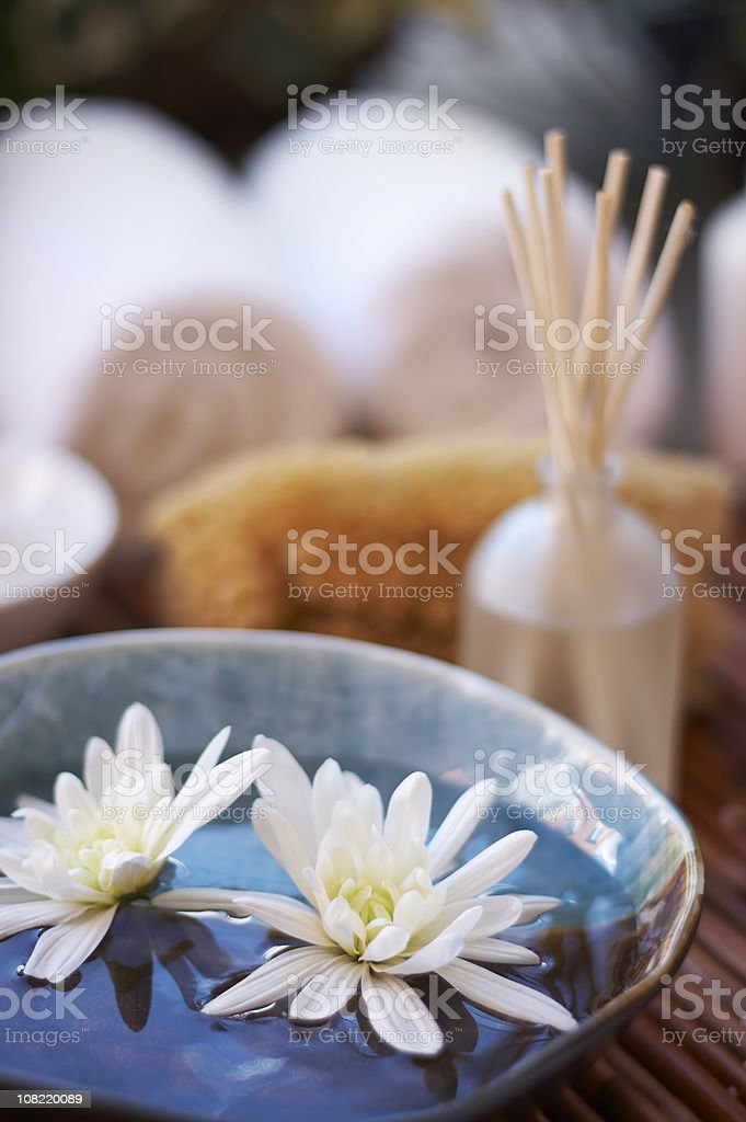 spa concept with flowers royalty-free stock photo