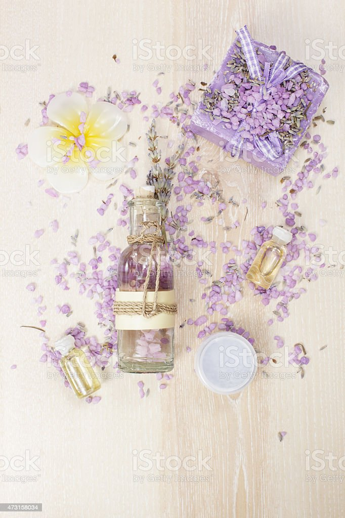 Spa concept with lavender stock photo