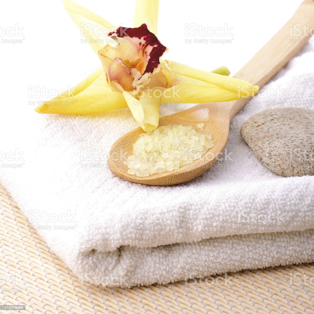 spa concept yellow royalty-free stock photo