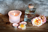 Spa decoration with aromatic oil
