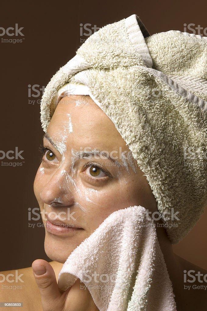 Spa Facial Skincare royalty-free stock photo
