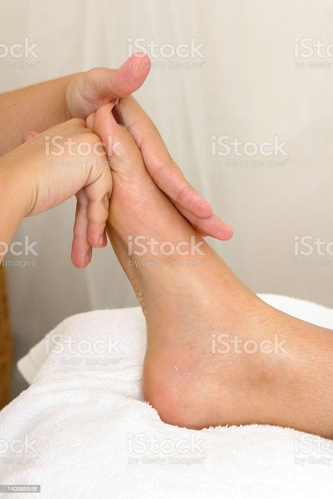Spa - foot massage royalty-free stock photo